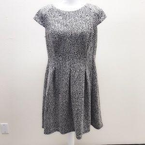 AB Studio Black & White Dress